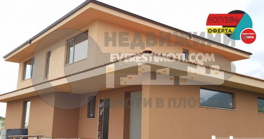 Самостоятелна нова двуетажна къща с голям двор 825 кв.м. - Белащица