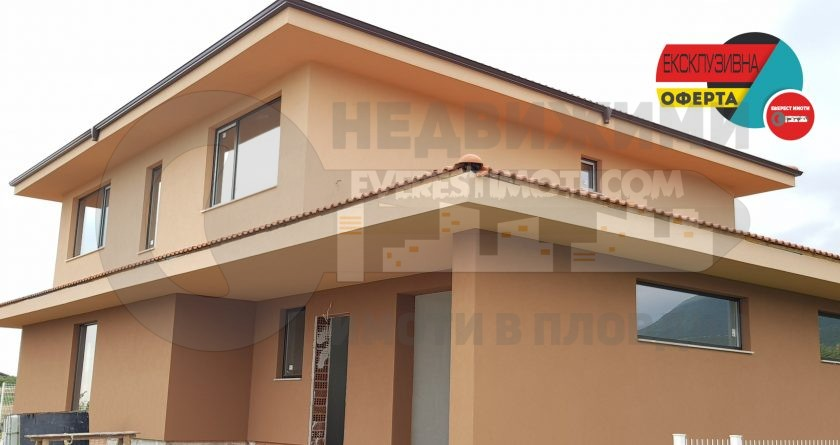 Самостоятелна нова двуетажна къща с голям двор - Белащица