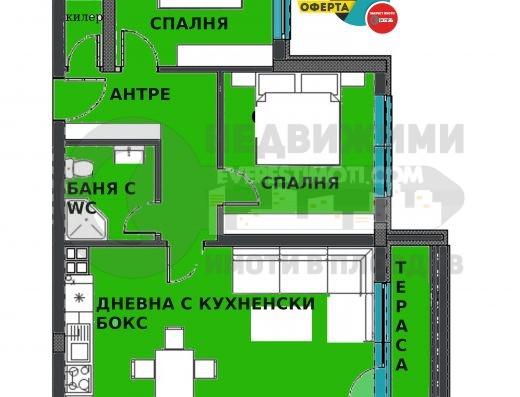 Тристаен апартамент в нова сграда до МОЛ Пловдив в кв.Смирненски
