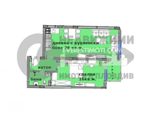 Двустаен апартамент в нова сграда в Кършияка– Пловдив