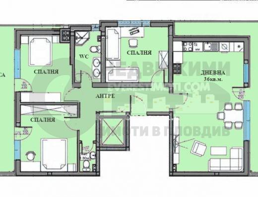 Многостаен апартамент в малка сграда до Панаира– Пловдив