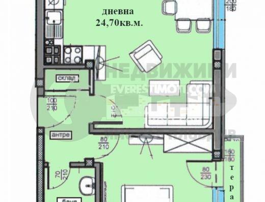 Голям двустаен апартемнт до Пловдивски панаир– Пловдив