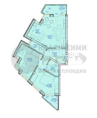 Тристаен апартамент в нова сграда във Въстанически– Пловдив