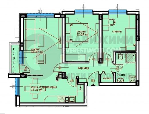Тристаен нов апартамент в кв.Въстанически– Пловдив