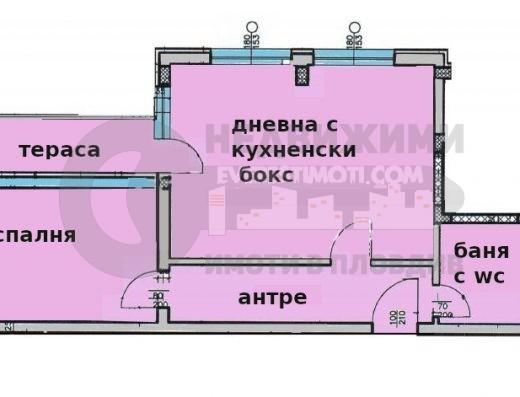 Двустаен апартамент до I РПУ в Кючук Париж– Пловдив