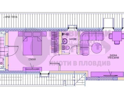 Двустаен апартамент /ГАРАЖ/ до I РПУ в Кючук Париж– Пловдив