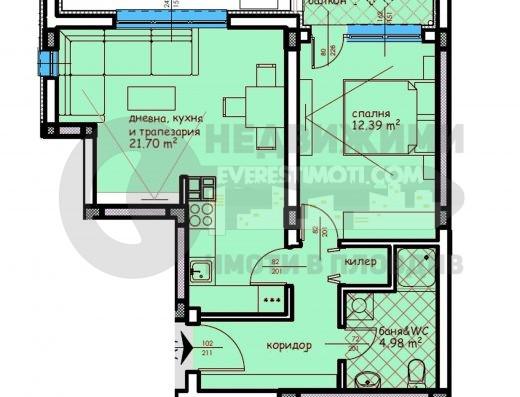 Двустаен нов апартамент в кв.Въстанически– Пловдив
