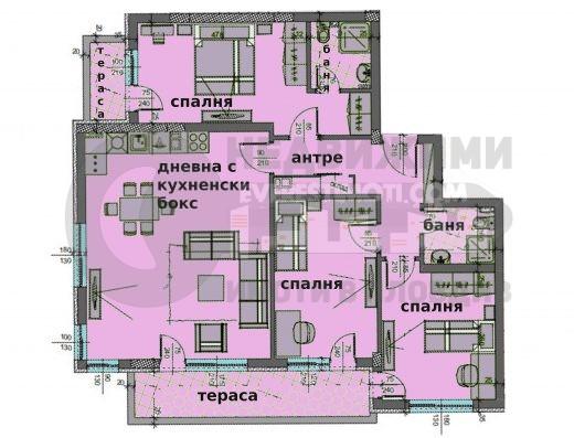 Многостаен апартамент с 3-спални до ВМИ в Пловдив