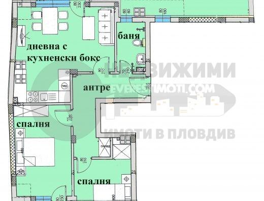 Тристаен апартамент със Зимна градина до х–л Санкт Петербург– Пловдив