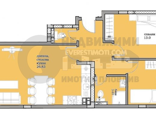Тристаен апартамент в нова сграда в Кършияка/Гараж/