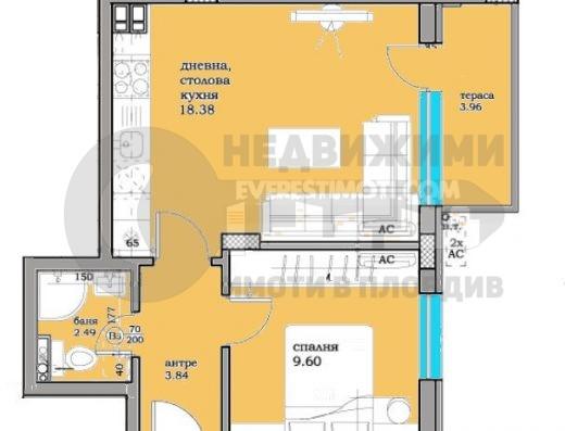 Двустаен апартамент в нова сграда в Кършияка/Гараж/