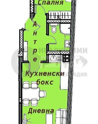 Двустаен апартамент в нова луксозна сграда до Герджика-гр.Пловдив