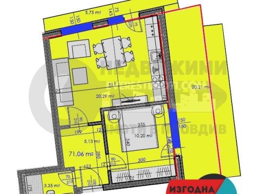 Двустаен апартамент в малка бутикова сграда в ЦЕНТЪРА- гр.Пловдив