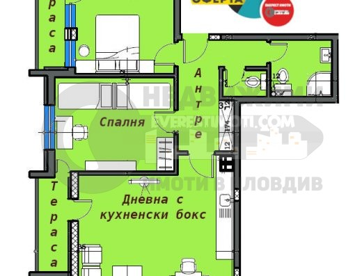 Тристаен апартамент в нова луксозна сграда до Герджика-гр.Пловдив