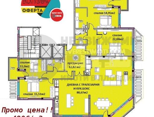 Уникален апартамент с 4 спални, нова Дизайнерска сграда в Кючук Париж- Пловдив
