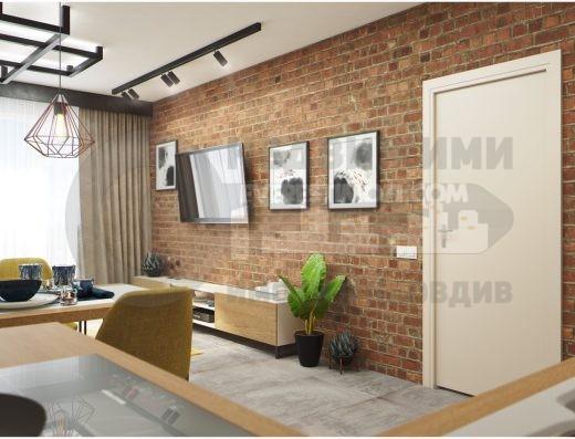 Двустаен дизайнерски обзаведен апартамент под наем за първи наематели – Въстанически - Пловдив