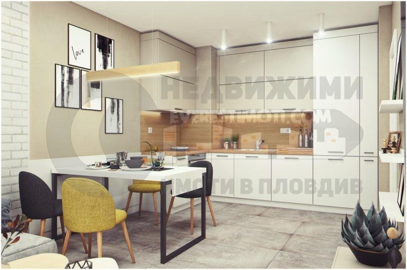 ЛУКС! Двустаен дизайнерски обзаведен апартамент под наем за първи наематели – Въстанически – Пловдив