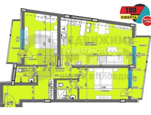 Тристаен нов апартамент в Каменица II- гр.Пловдив