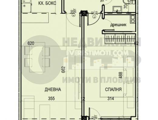 Просторен двустаен южен апартамент в нова сграда - Община Район Западен, Пловдив