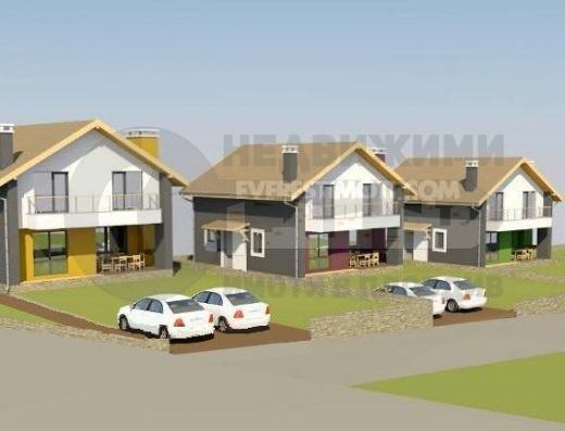 Двуетажна нова къща с целогодишен достъп и панорама в с. Марково