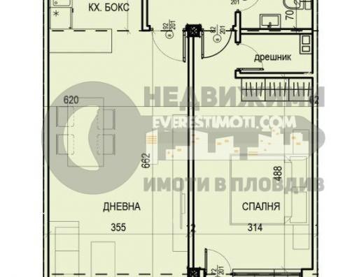 Просторен двустаен южен апартамент в нова сграда до общината в кв. Смирненски – Пловдив