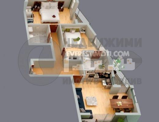 Тристаен югоизточен апартамент в малка нова сграда до общината в кв. Смирненски – Пловдив