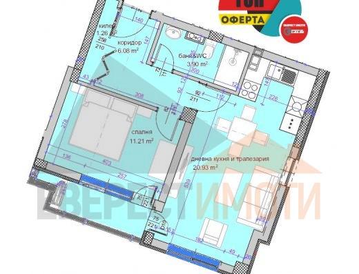 Двустаен Южен апартамент в нова сграда, в кв. Кършияка гр. Пловдив