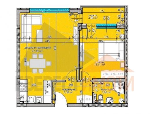 Двустаен апартамент в нова красива сграда - Поликлиниката, кв. Тракия - Пловдив