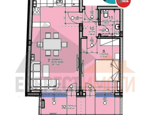 Супер инвестиция! Двустаен апартамент в бутикова сграда на центъра на Пловдив