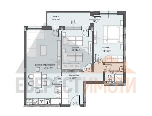 Тристаен апартамент в нов луксозен комплекс Център - Пловдив