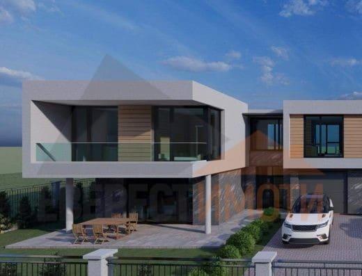 Нова двуетажна къща с РЗП 225 кв.м. и четири спални в началото на кв. Остромила - гр. Пловдив